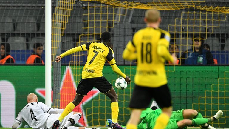 Ousmane Dembele restores Dortmund's two-goal lead after 29 minutes