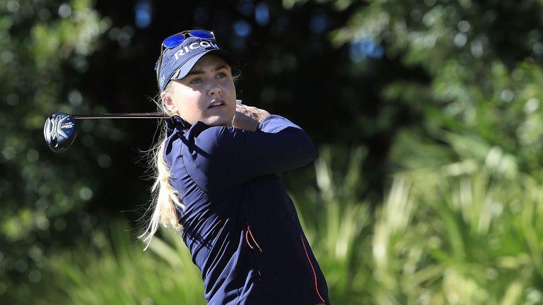 Hull celebrated success in the LPGA Tour season finale