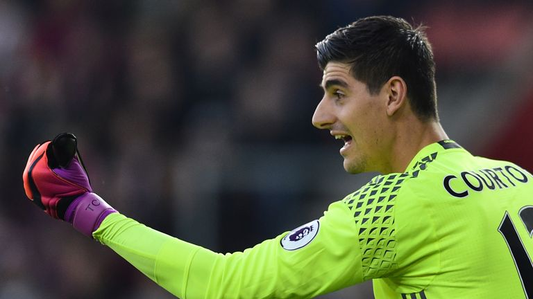 Thibaut Courtois says he wants to win the Premier League title with Chelsea