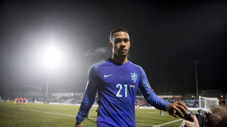Netherlands' Memphis Depay leaves the field after winning the World Cup 2018 qualifying  match between Luxembourg and Netherlands on November 13, 2016 at t