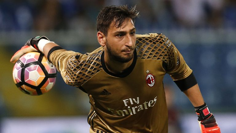 Donnarumma has made 72 appearances for Milan at the age of just 18