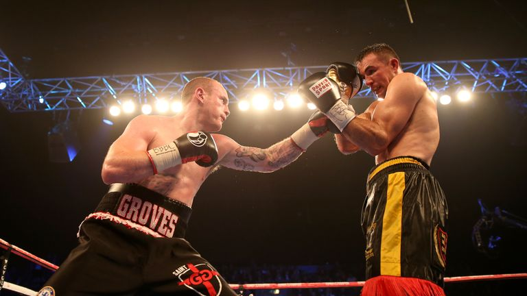 Groves comprehensively out-pointed Gutknecht at the Wembley SSE Arena,