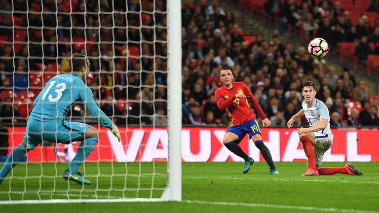 Iago Aspas scored Spain's first goal of the game