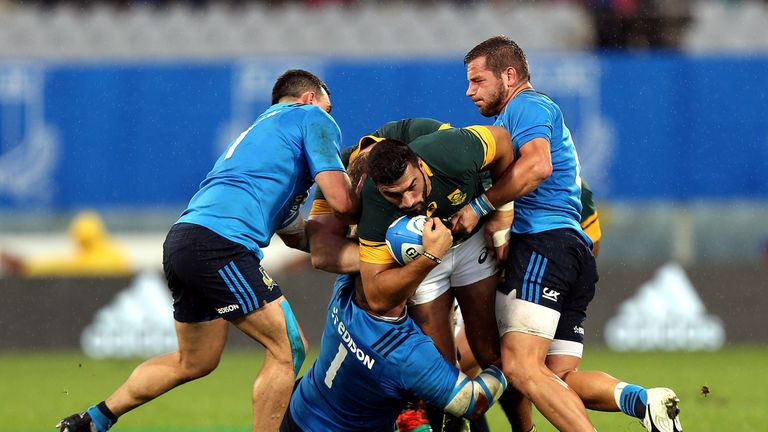 The Springboks suffered their first-ever defeat to Italy last year