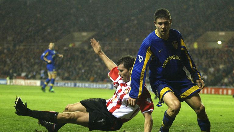 Milner scored his first Premier League goal for Leeds at the age of 16