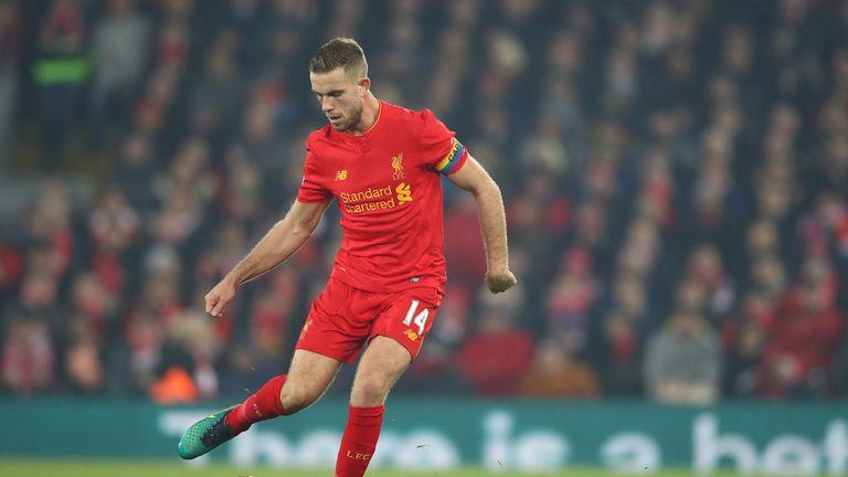 Jordan Henderson wore a rainbow-coloured captain's armband during Liverpool's win over Sunderland