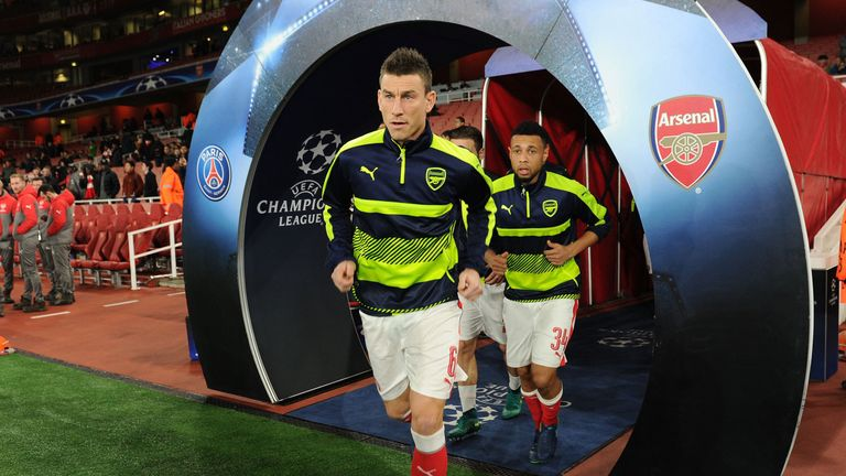 Arsenal want to compete with the best teams in Europe in the Champions League, says Koscielny