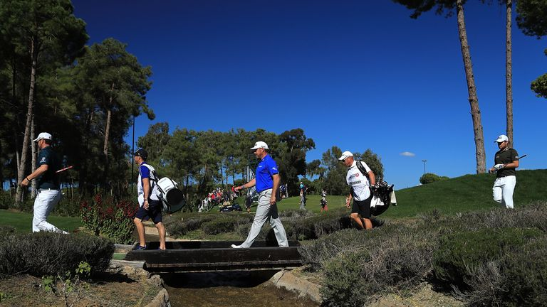 Westwood mixed six birdies with three bogeys and one double-bogey