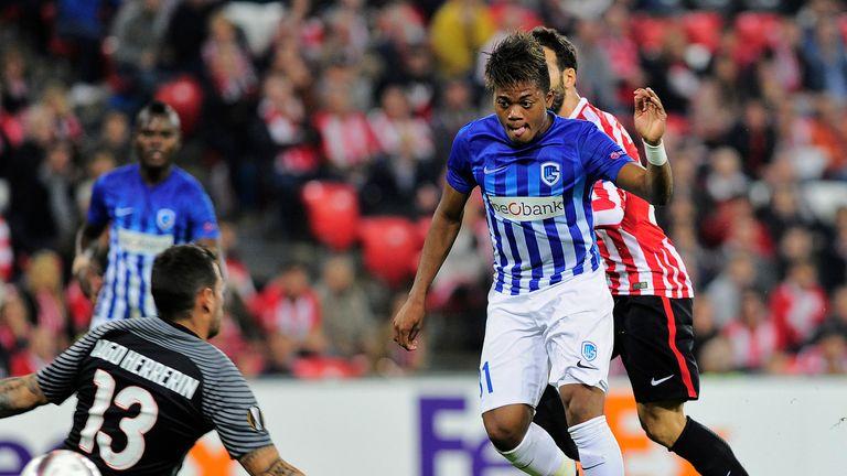 Leon Bailey scoring against Athletic Club de Bilbao in the Europa League