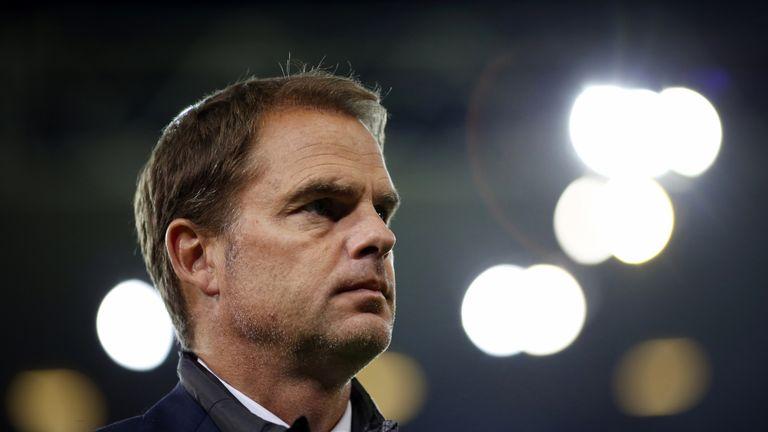 Inter Milan's Dutch head coach Frank de Boer