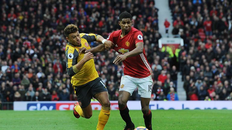 Marcus Rashford allowed Alex Oxlade-Chamberlain to get past him to set up Arsenal's equaliser