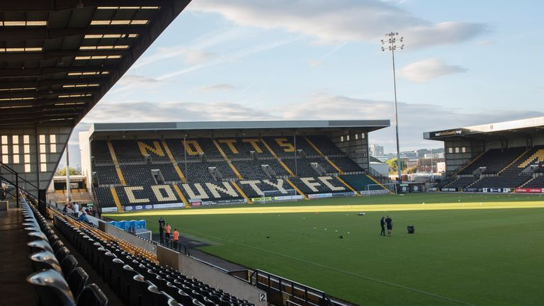 NOTTINGHAM, ENGLAND - AUGUST 31: General view of Meadow Lane before the Checkatrade Trophy group match lbetween Notts County and Hartlepool on August 31, 2