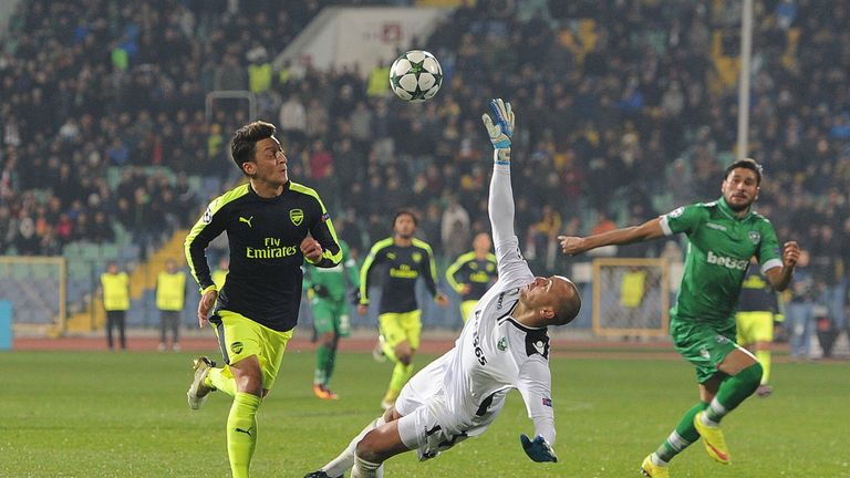Mesut Ozil scored a stunning winner for Arsenal at Ludogorets
