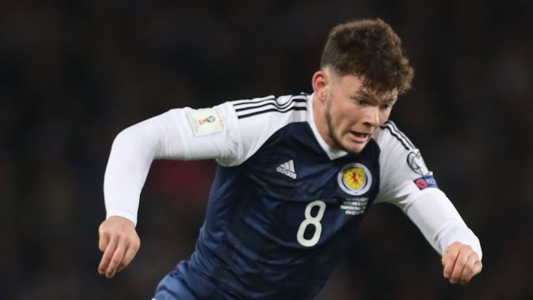 Oliver Burke last featured for Scotland in a friendly against Canada in 2017