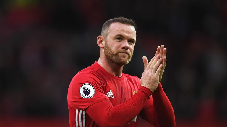 Wayne Rooney applauds the Old Trafford crowd at the final whistle