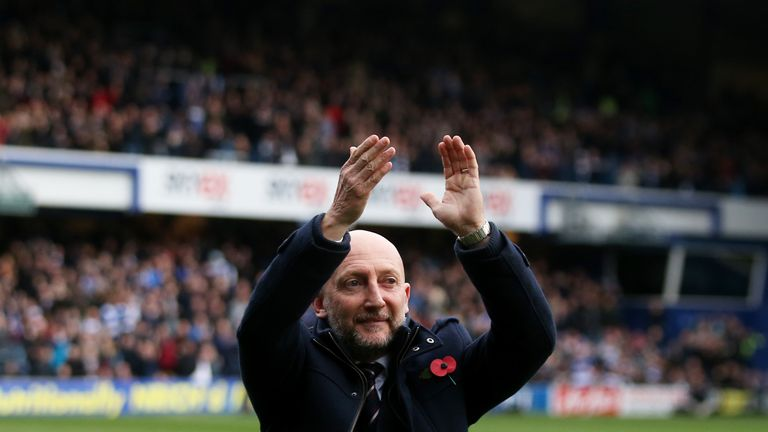 Queens Park Rangers manger Ian Holloway applauds fans v Norwich at Loftus Road, Sky Bet Championship