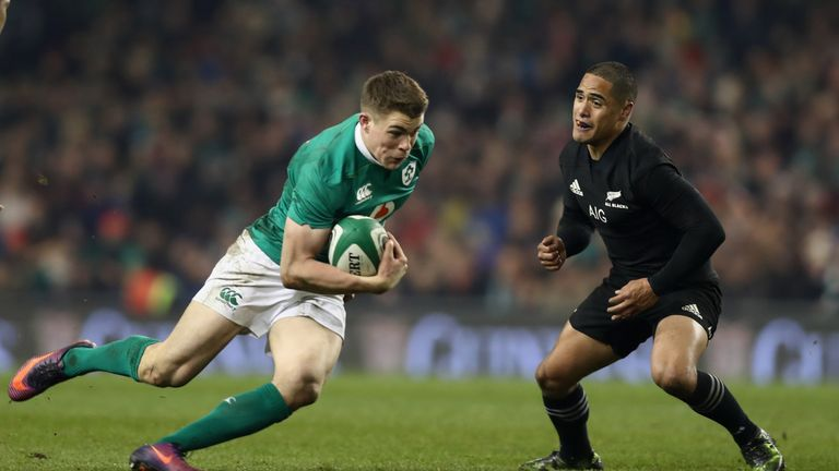 Garry Ringrose is expected to partner Leinster team-mate Robbie Henshaw in the Ireland midfield