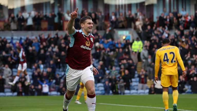 Sam Vokes gave Burnley a second-minute lead at Turf Moor