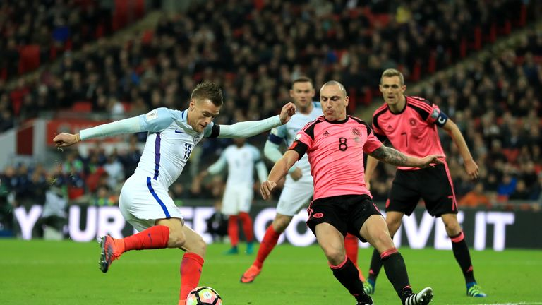 Scott Brown returned to the Scotland set-up for the meeting at Wembley