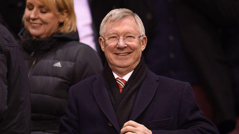 Manchester United's  former manager Sir Alex Ferguson