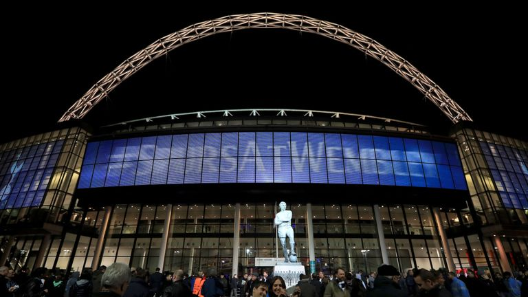 Tottenham have been playing their European games at Wembley this term
