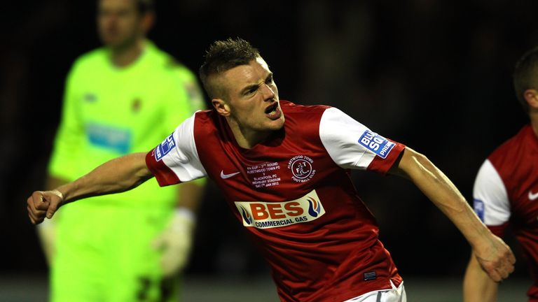 Vardy scored 34 goals for Conference Premier side Fleetwood Town