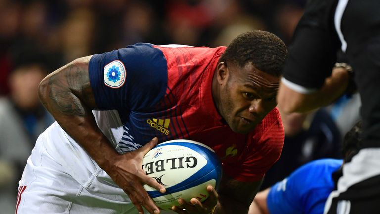 Virimi Vakatawa finished a flowing first-half France move during their win over Samoa