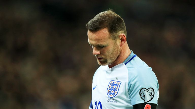 Wayne Rooney during the FIFA 2018 World Cup qualifying against Scotland
