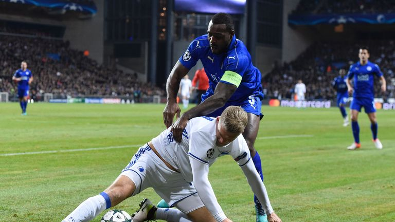 Morgan battles with Andreas Cornelius