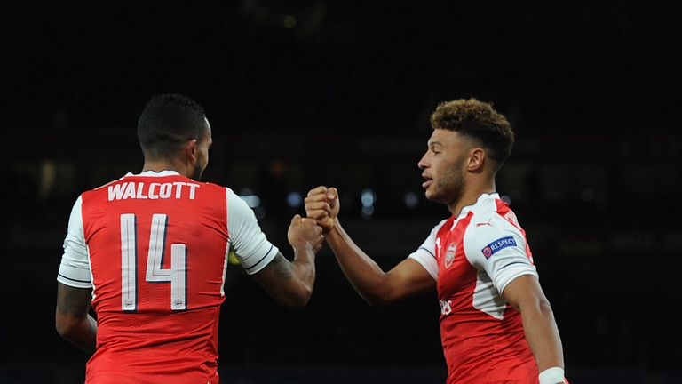 Theo Walcott and Alex Oxlade-Chamberlain were Arsenal team-mates after coming through the ranks at Southampton