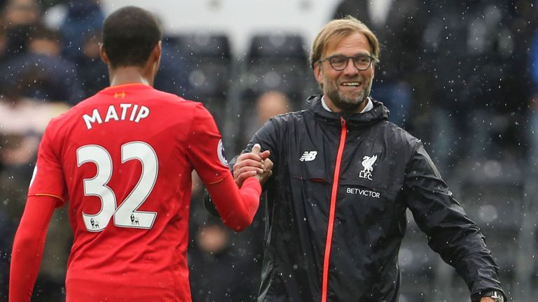 Liverpool won four and drew two without Joel Matip earlier this season