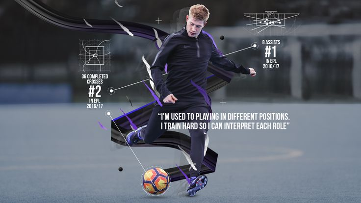 Kevin De Bruyne trains fast in Nike Football Training apparel, built for speed with revolutionary AeroSwift technology.