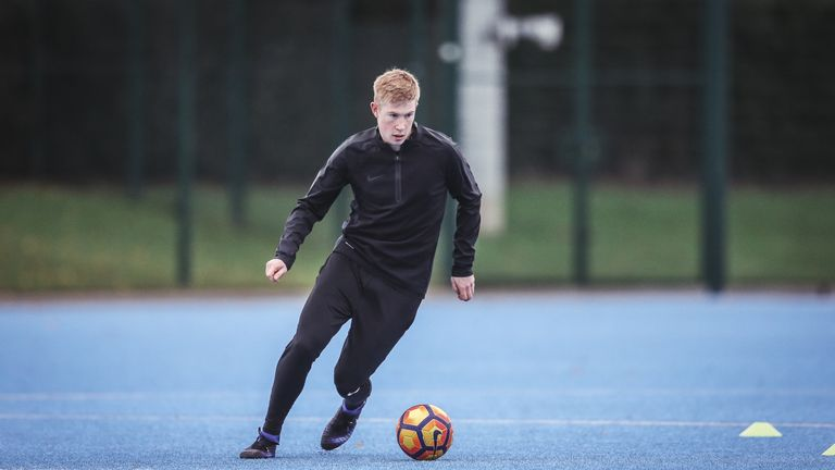 Manchester City's Kevin De Bruyne hones his skills in Nike Football Training apparel