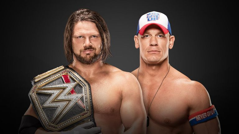 AJ Styles will defend the WWE Title against John Cena at the Rumble