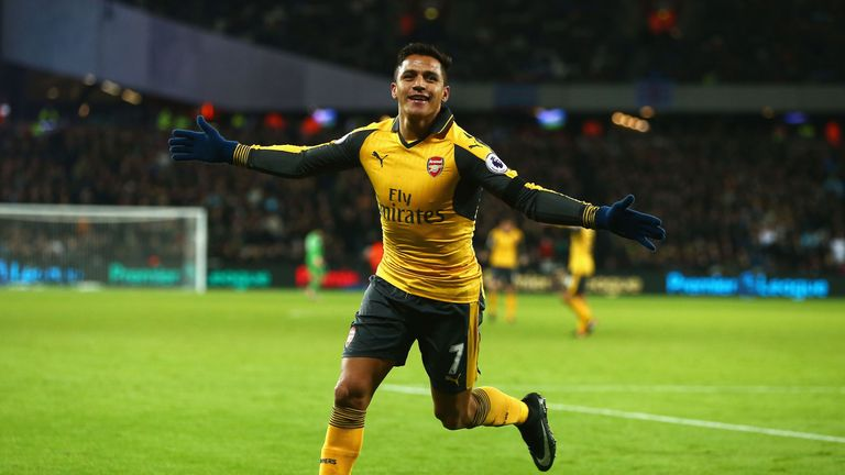 Alexis Sanchez has led Arsenal's attack in 2016