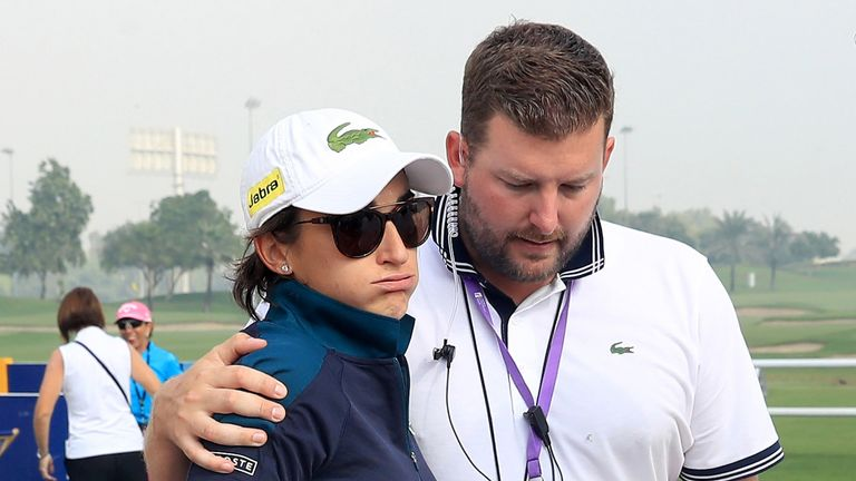 Caudal was consoled by Tournament Director Michael Wood after Zechmann collapsed
