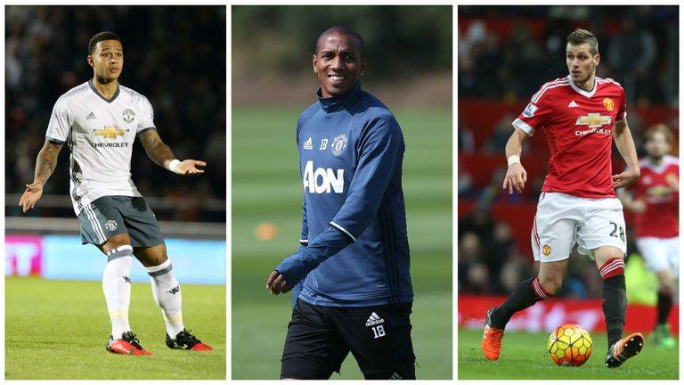 Memphis Depay, Ashley Young and Morgan Schneiderlin have all struggled for minutes this season