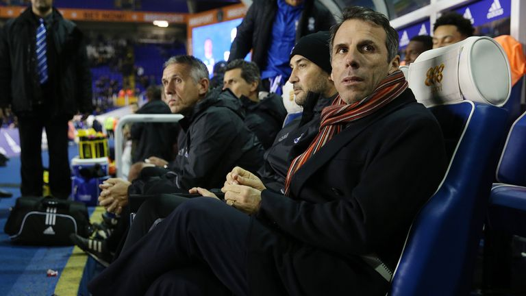 Birmingham City manager Gianfranco Zola during the Sky Bet Championship match v Brighton at St Andrew's, Birmingham