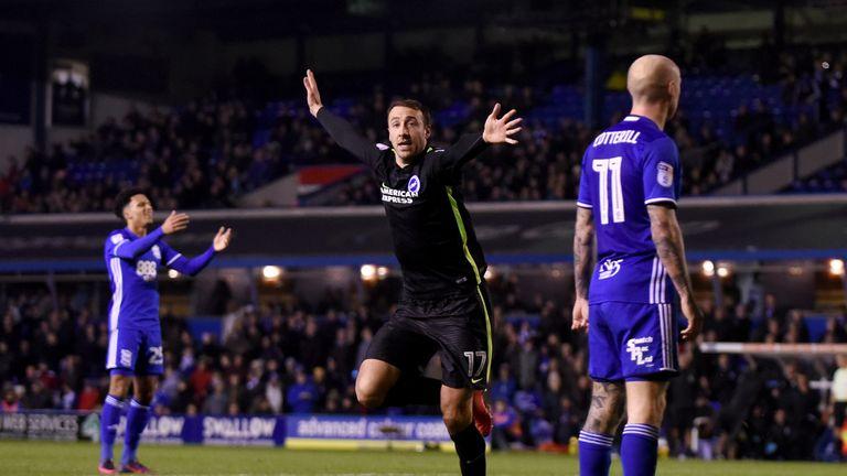 Glenn Murray celebrates after scoring for Brighton