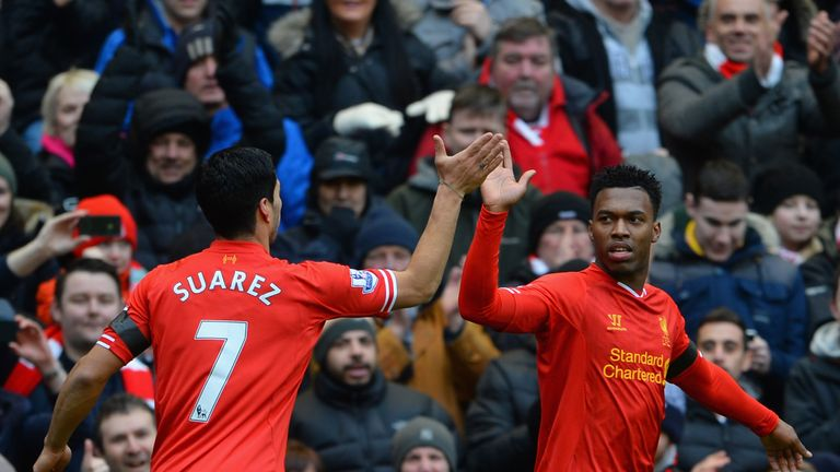 Daniel Sturridge and Luis Suarez formed a key partnership for Liverpool in their 2013/14 streak