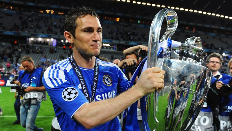 Lampard's haul of 11 major trophies with Chelsea included the 2012 Champions League