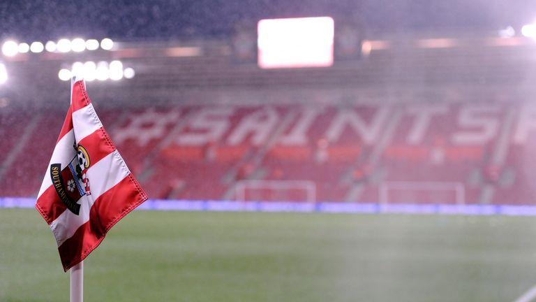 General view of a Southampton Football Club branded corner flag