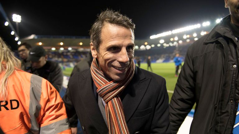 New Birmingham manager Gianfranco Zola ahead of the Sky Bet Championship game with Brighton