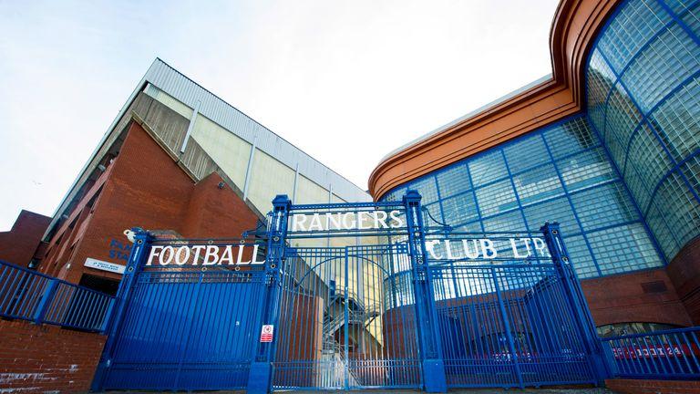 Ibrox Stadium, home of the Glasgow Rangers