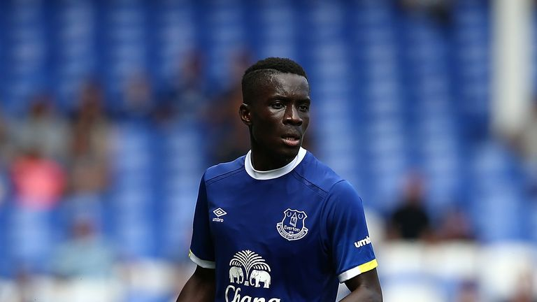 LIVERPOOL, ENGLAND - AUGUST 06:  Idrissa Gana Gueye of Everton in action during the pre-season friendly match between Everton and Espanyol at Goodison Park