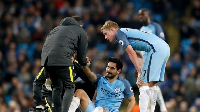 Ilkay Gundogan damaged a cruciate ligament playing for Manchester City in December
