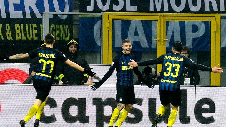 Mauro Icardi scored twice as Inter Milan beat Lazio 3-0 on Wednesday