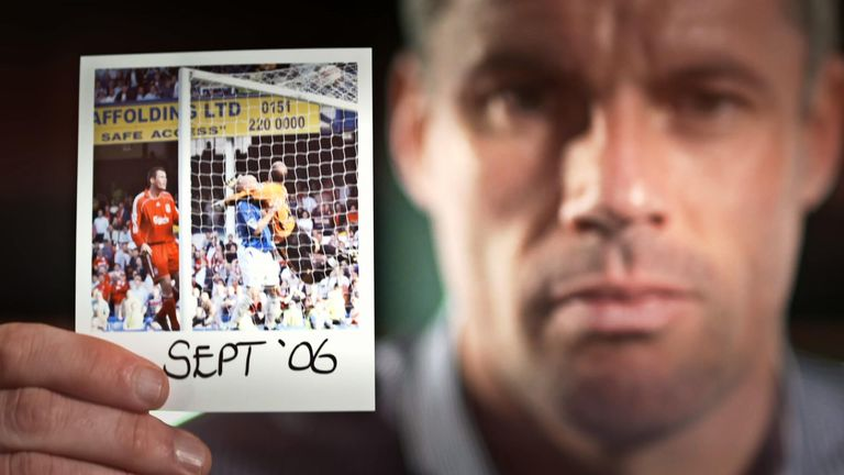 Jamie Carragher remembers Liverpool's 3-0 derby defeat in 2006 and says he had a 'nightmare'