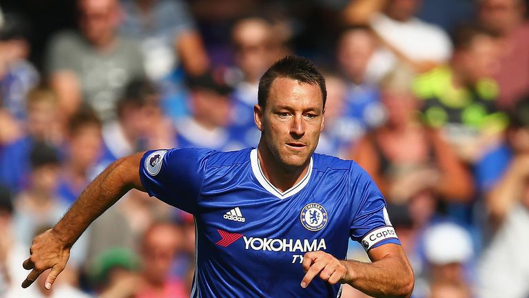 John Terry in action during the Premier League match against Burnley at Stamford Bridge