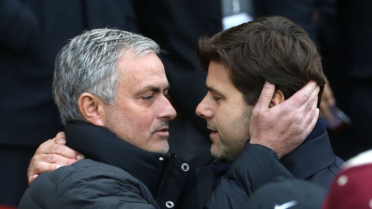 Jose Mourinho (left) and Mauricio Pochettino go head to head again on MNF